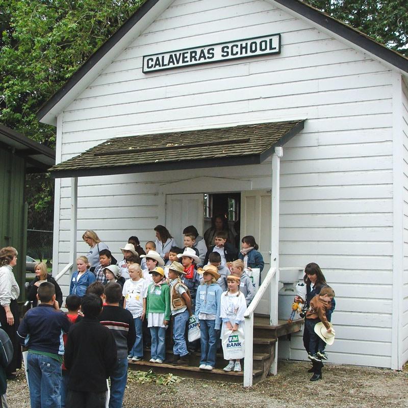1866 Calaveras School with kids